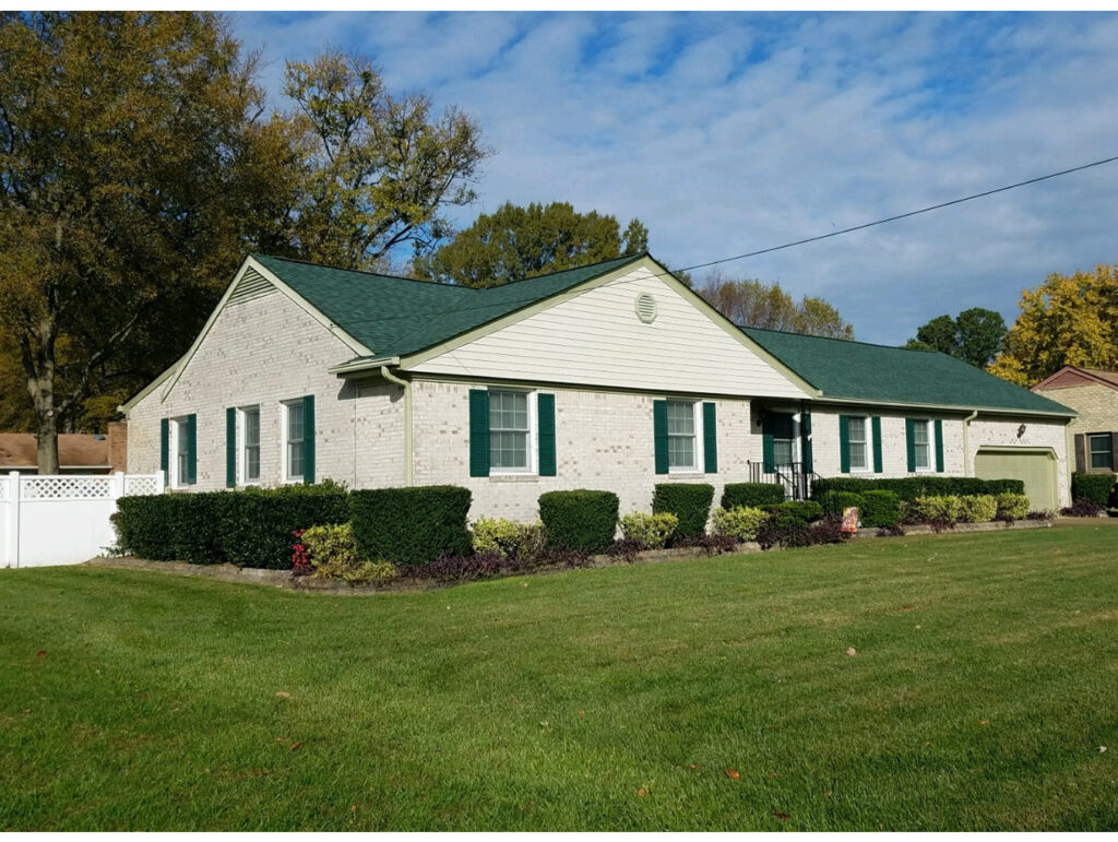 25 year 3Tab fiberglass asphalt shingle Andrews Roofing – Hunter Green Roof Shingles
